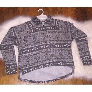 Full Tilt Hi Lo Nordic Zip Sweater
